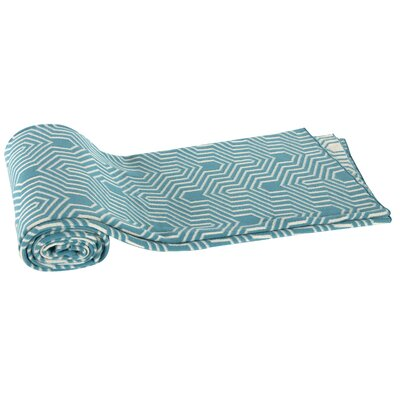 Gillman Cotton Cashmere Throw Blanket Color: Turquoise