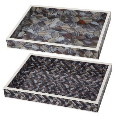 2 Piece Tray Set