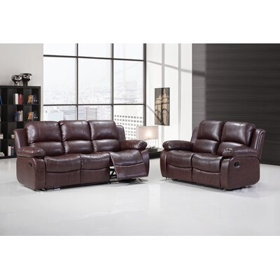 Bethune 2 Piece Living Room Set Upholstery: Brown