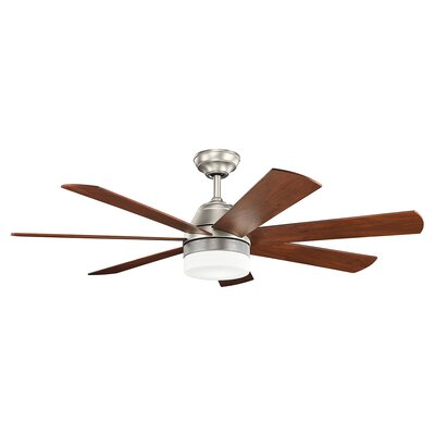Lamarr 56 7 Blade Ceiling Fan Finish: Brushed Nickel with Silver Blades