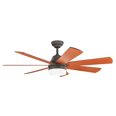 Lamarr 56 7 Blade Ceiling Fan Finish: Olde Bronze with Cherry Blades