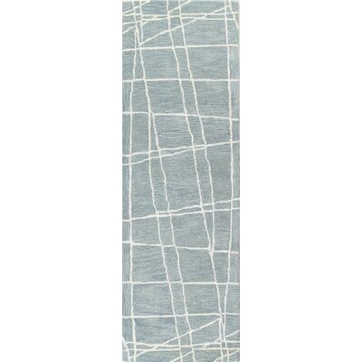 Fornax Hand-Tufted Light Blue Area Rug Size: Runner 26 x 8