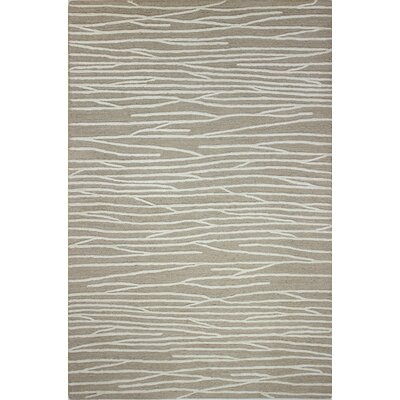 Forsyth Road Hand-Tufted Beige Area Rug Rug Size: Rectangle 3'7