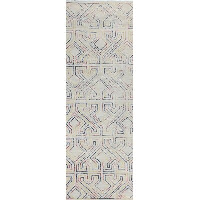 Fort Hamilton Hand-Tufted Ivory Area Rug Rug Size: Runner 26 x 8
