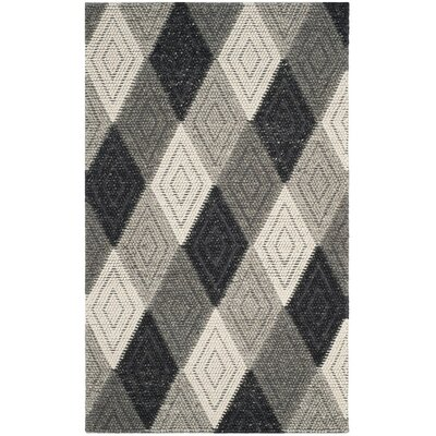 Rohan Hand-Tufted Anthracite Area Rug Rug Size: Rectangle 5 x 8