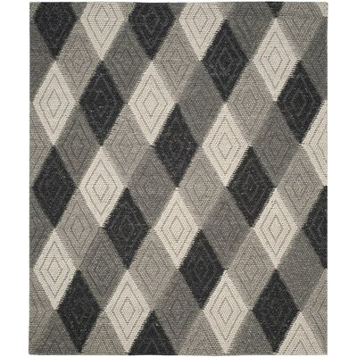 Rohan Hand-Tufted Anthracite Area Rug Rug Size: Rectangle 8 x 10