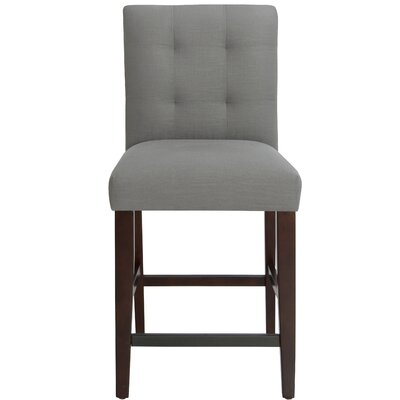 Fremont 26 Bar Stool Upholstery Color: Gray