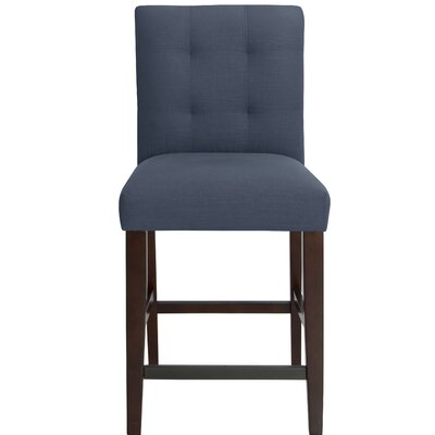 Fremont 26 Bar Stool Upholstery Color: Navy