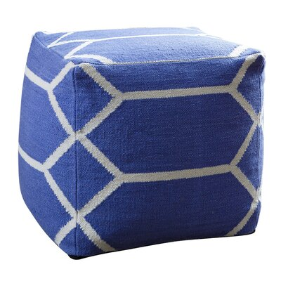 Zavala Lattice Square Pouf Ottoman
