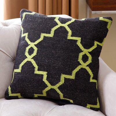 Freshford Lattice Wool Throw Pillow