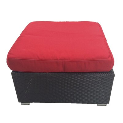 Kingsdown Ottoman with Cushion Fabric: Red