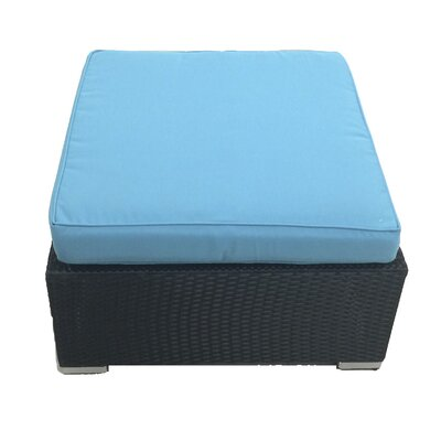 Kingsdown Ottoman with Cushion Fabric: Turquoise