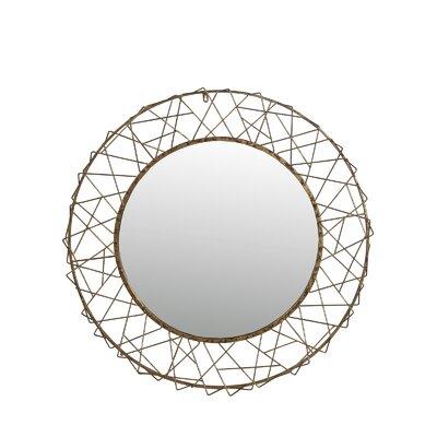 Brayden Studio Round Gold Bevel Rope Mirror