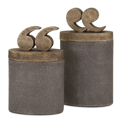 2 Piece Quote Lidded Boxes Set