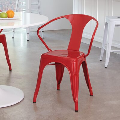 Blaney Office Stacking Chair Finish: Red, Quantity: Set of 2