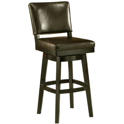 Weinman 30.5 Swivel Bar Stool Finish: Brown