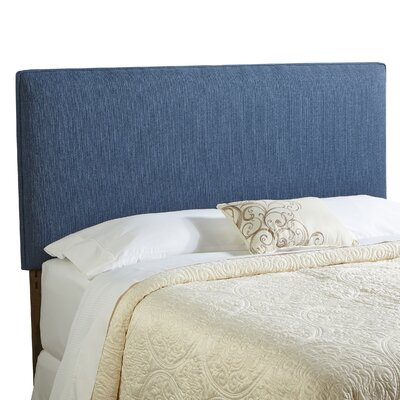 Franklin Square Queen Upholstered Panel Headboard Upholstery: Navy Blue