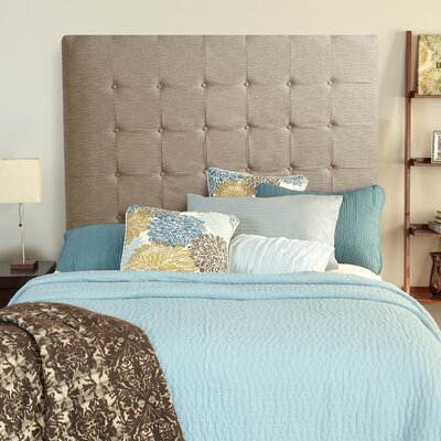 Franklin Square Linen Upholstered Panel Headboard Upholstery: Beige, Size: Full