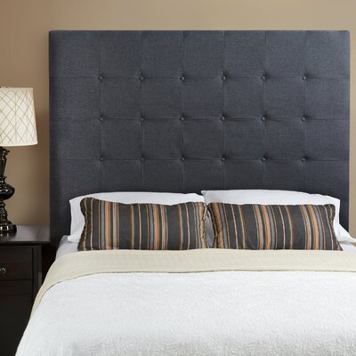 Franklin Square Linen Upholstered Panel Headboard Upholstery: Charcoal Grey, Size: Full