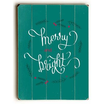 Brayden Studio Merry & Bright Graphic Art Plaque