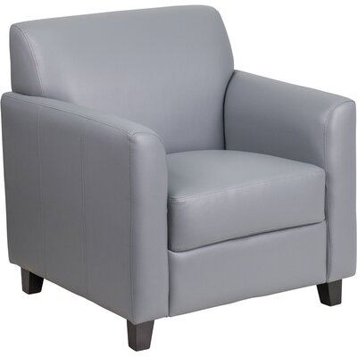 Diplomat Leather Lounge Chair Seat Color: Gray