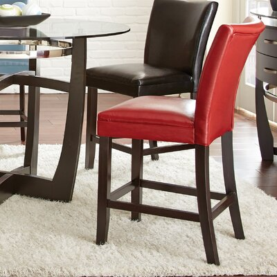 Mcneel Parsons Chair (Set of 2) Upholstery: Red