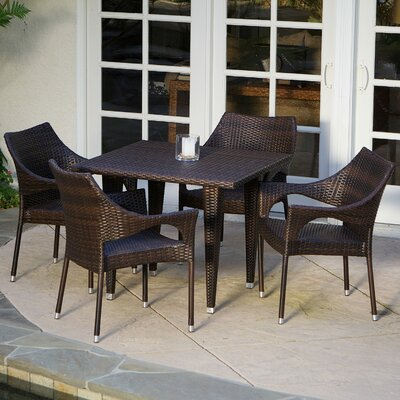Blackstock 5 Piece Dining Set Finish: Multi-Brown