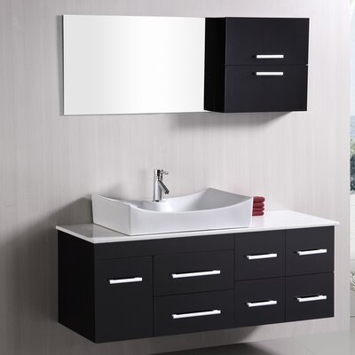Newcastle 55 Single Bathroom Vanity Set with Mirror