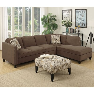 Brayden Studio BRSD8263 28617438 Baugh Chaise Sectional Upholstery