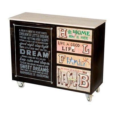 Iolanthe 4 Drawer, 1 Door Cabinet