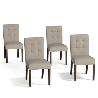 Isidora Side Chair Set Upholstery: Taupe