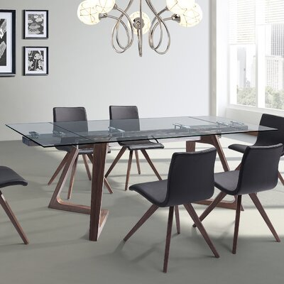 Iveta Extendable Dining Table Base Color: Walnut