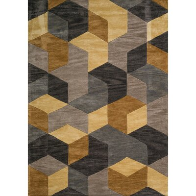 Abaokoro Gold/Gray Area Rug Rug Size: 5' x 7'