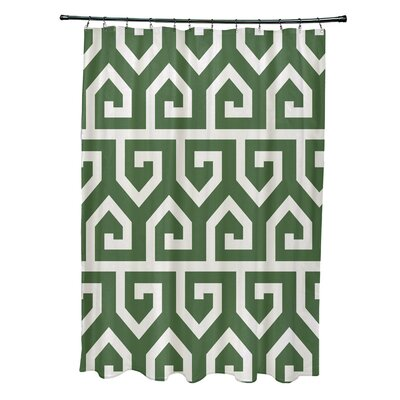 Minden Keyed Up Geometric Print Shower Curtain Color: Gray
