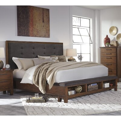 Upholstered Storage Panel Bed