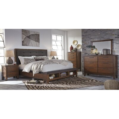 Upholstered Storage Panel Customizable Bedroom Set
