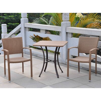 Katzer 3 Piece Bistro Set Finish: Honey Pecan