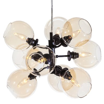 Doolin 9-Light Pendant Shade Color: Champagne