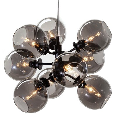 Gaius 9-Light Pendant Shade Color: Grey