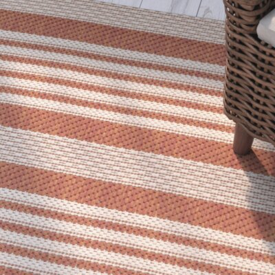 Sophina Orange Indore/Outdoor Area Rug Rug Size: Rectangle 2 x 37
