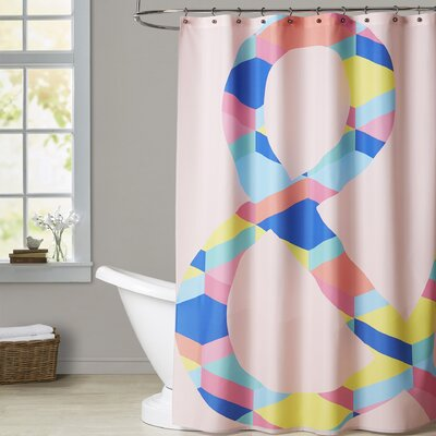 Ashlee Rae Amperstand on Black Shower Curtain Color: Pink
