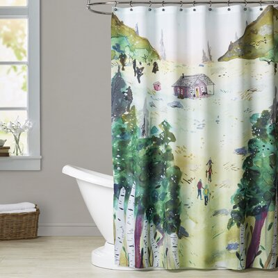 Merlino A Hike to the Cabin Shower Curtain