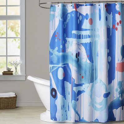 Deb McNaughton Abstract Marble Shower Curtain
