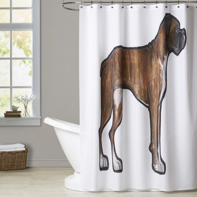 Mickle Boxer 2 Shower Curtain
