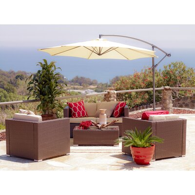Garvey 5 Piece Seating Group Finish: Rustic Dark Brown