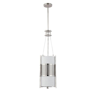 Ferriera 1-Light Mini Pendant Size / Finish / Shade Type / Bulb Type: 31.25 H x 9.5 W / Pol. Nickel / Gray / Incand.