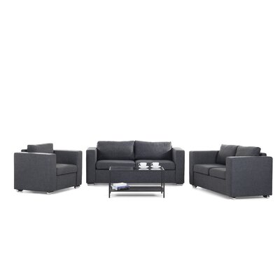 Fray 3 Piece Living Room Set