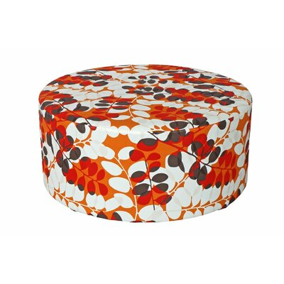 Bowlin Outdoor Pouf Ottoman Fabric: Red Floral