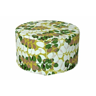Armor Outdoor Pouf Ottoman Fabric: Green Floral