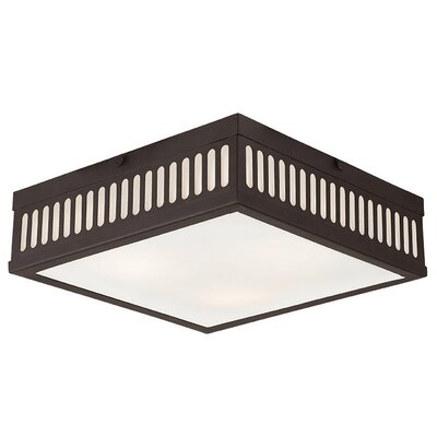 Millington 3-Light Flush Mount Finish: Bronze